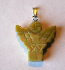 Yellow Turquoise Crystal Guardian Angel Pendant Reiki Attuned Blessed + Gift Bag