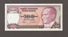 1970 100 TURK LIRASI TURKEY CURRENCY UNC BANKNOTE NOTE MONEY BANK BILL CASH LIRA