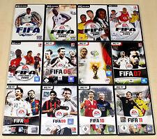 12 PC Giochi raccolta EA FIFA FOOTBALL CALCIO 2001 2002-10 11 completa (13 14)