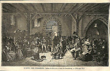 HISTOIRE DE FRANCE NOBLES CONDAMNES TABLEAU MULLER GRAVURE IMAGE 1866