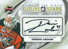 (HCW) 2011-12 ITG Between the Pipes Future Stars DOMENIC GRAHAM Autograph 484