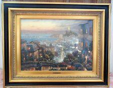 "THOMAS KINKADE Hand-Signed 18x24 ""SAN FRANCISCO LOMBARD STREET"" R/E 272/280 COA"