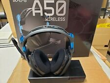 Astro 939-001538 A50 Gaming  Wireless Headset PS4 / PC - Black & Blue - Boxed