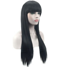 Womens Long Ladies Black Long Straight Natural Wig Hair Full Wigs For Party