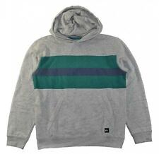 Quiksilver Big Boys Heather Gray Green & Blue Hoodie Size 12 (Medium)
