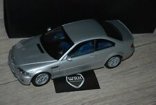 BMW M3 E46 COUPE silver with lagunaseca interior Kyosho 1/18 SUPERB in box