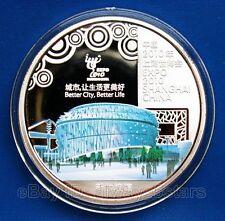 World Expo 2010 Shanghai Colored Silver Coin Token - Singapore Pavilion