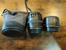 CANON EF 50mm F/2.5 COMPACT MACRO Lens w/LIFE-SIZE CONVERTER Japan