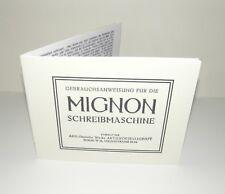 Mignon AEG Typewriter Schreibmaschine  GERMAN Instruction Manual Reproduction