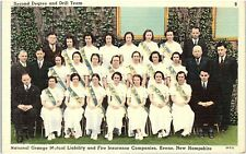 Postcard NH Keene National Grange Insurance Second Degree And Drill Team R14
