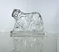 More details for vintage baccarat crystal tiger sculpture george chevalier deco art glass figure
