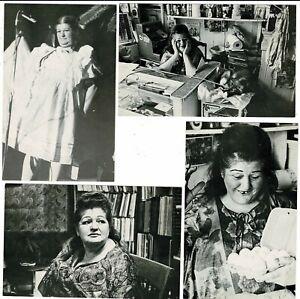 4 B&W Postcards 1976 Edith Massey John Waters' Edie the Egg Lady Pink Flamingoes