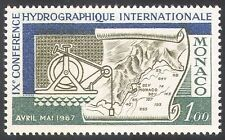 Monaco 1967 Ocean/Oceanography/Hydrography/Maps/Charts/Navigation 1v (n41696)