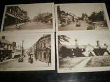 Old miniature photographs of East Grinstead c1920s - 1930s