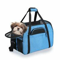 JESPET Blue Soft Sided Pet Carrier Comfort for Airline Travel