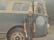 VINTAGE HIPPIE BUS GOLD MINER RR STOOL MID MOD JUNEAU ALASKA 1967 MID MOD PHOTO