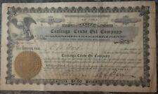 Coalinga Crude Oil Company Stock, 1910