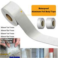 1M/ 5M Wasserdichtes Klebeband Butylkautschuk Aluminium Folie Tape 30mm/50mm