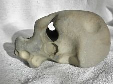 Mid century modern stone sculpture of dog head signed