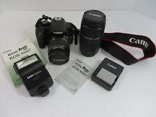 Canon Rebel XS / EOS 1000D 10.1MP Digital SLR Camera Extra Lens Bundle #7062