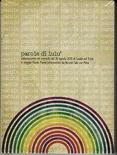 Dvd + Cd «PAROLE DI LULU'» Niccolò Fabi con Mina in Concerto 30 Agosto 2010