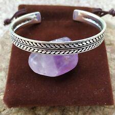 Jonc Bracelet Viking Revêtement Argent Massif 925 Celtique Fait Main