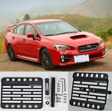 Tow Hook Mount License Plate Relocated Holder For 15-Up Subaru WRX / STi Front