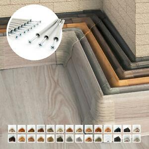 Fussleisten 10 - 100 Meter 62mm Hoch Sockelleisten PVC Kunststoff Laminat Sockel