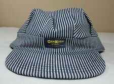 Vtg OshKosh B'Gosh Train Engineer Railroad Cap Hat Made USA New Striped