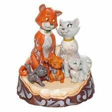 Disney Traditions 6007057 Aristocats Cats Carved by Heart Figurine