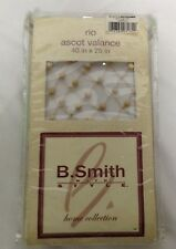 "New B Smith with Style Home 40"" x 25"" Rio Ascot Valance Beaded"
