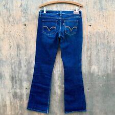 """LEVIS 524 Too Superlow Jeans. Dark Wash Blue. Women's 9M. W29 L32. 7 1/2"""" Rise"""