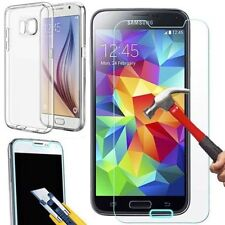 Coque transparente souple silicone Samsung Galaxy S7 + FILM EN VERRE TREMPE HD