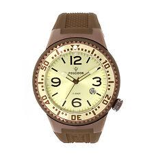 POSEIDON Unisex-Armbanduhr L Analog Silikonband UP00411 Braun/Champ. UVP 139,- €