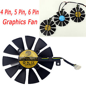 12V Graphics Cooling Fan for ASUS ROG Strix GTX 1080Ti GTX 1060 1080 1070 RX 480