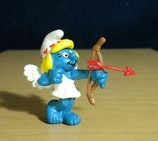 Smurfette Cupid Valentine Smurf Vintage Smurfs Figure PVC Toy Figurine Lot 20156
