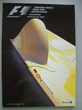 Formula 1 F 1 Grosser Mobil 1 Preis von Deutschland Hockenheim 2004 Programm