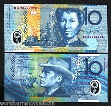 AUSTRALIA 10 DOLLARS P52 1-11-1993 Low RED Serial # POLYMER UNC HORSE BANK NOTE