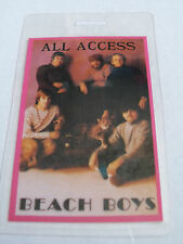 THE BEACH BOYS Laminated ALL ACCESS Backstage Tour Pass - Unknown Tour