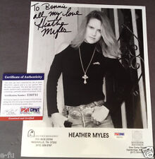 HEATHER MYLES Signed Photo Inscription Bonnie Owens PSA/DNA Certified Autograph