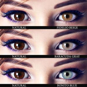 PREMIUM farbige Kontaktlinsen MIT und OHNE Sehstärke - äußerst natürlich - HYDRO