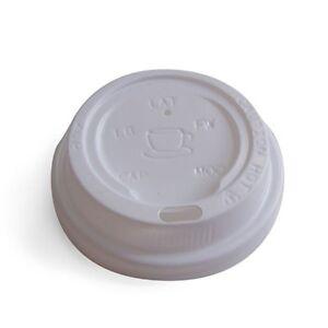 12/16oz Coffee Cup Lids Plastic - WHITE  1000 pcs