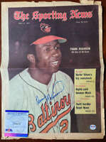 Frank Robinson PSA DNA Coa Signed 1971 Vintage Sporting News Cover Autograph