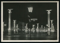 1942 Germany 3rd Reich Postcard German WWII Hitler Era Berlin At Night RPPC Used