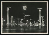 WW2 WWII Germany 3rd Reich Postcard German Hitler Era Berlin At Night RPPC 1942