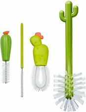 Cacti Bottle Cleaning Brush Replacement Set Baby Feeding Bottles 4 Piece Green