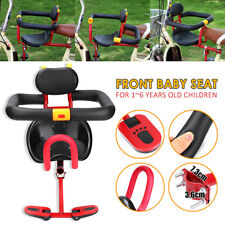 Children Kids Baby Carrier Bike Bicycle Child Front Seat With Sponge Fence Pedal
