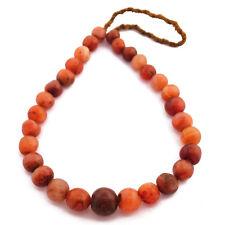 "Carnelian Necklace 24"" Nepalese Tibetan Handmade From Nepal By Eksha UN1830"
