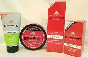 Extra Large ERASMIC Face Shave Gel / Cream / Stick / Bowl with Balm Free Post
