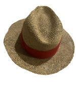 Vintage Town Talk Straw Hat One Size Fast Tab Ref Made in USA